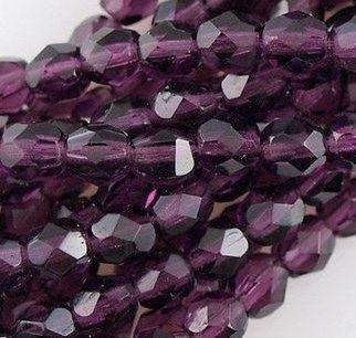 Glasschliffperlen 4mm Amethyst 100 Stück
