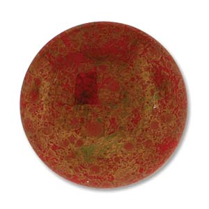 Glas Cabochon rund 24mm Luminous Red Coral 1 Stück