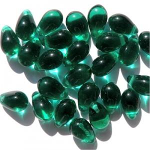 Glasperlen  Glasperlen gepresst Tropfen smaragd 6x9mm günstig kaufen Perlen ...