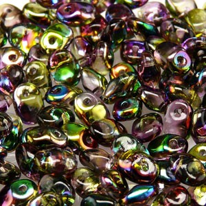 Glasperlen Superuno Beads 2,5x5mm UN0500030-95000-09 Crystal Magic Violet Green ca 22gr