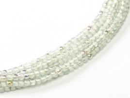 Glasperlen rund gepresst Crystal Blue Rainbow 2mm ca 150 Stück