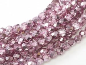 Glasschliffperlen 3mm Crystal Flamingo Metallic Ice 100 Stück