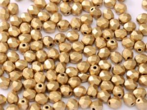Glasschliffperlen 4mm Aztec Gold 100 Stück