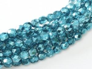 Glasschliffperlen 4mm Crystal Marine Metallic Ice 100 Stück