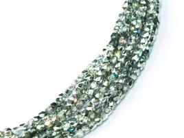 Glasschliffperlen 2mm Crystal Silver Rainbow ca 150 Stück