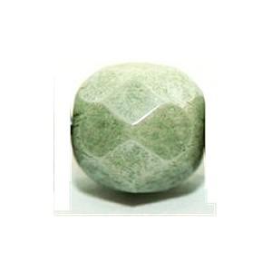 Glasschliffperlen 3mm Jade opak 100 Stück