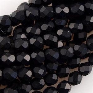 Glasschliffperlen 3mm Jet matt 100 Stück