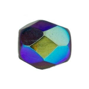 Glasschliffperlen 4mm Garnet irisierend 100 Stück