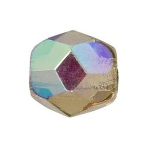 Glasschliffperlen 3mm Smoked Topaz irisierend 100 Stück