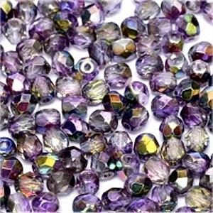 Glasschliffperlen 4mm Crystal Magic Purple 100 Stück