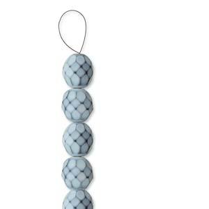 Glasschliffperlen Snake Beads 4mm Fog ca 100 Stück