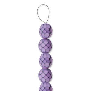 Glasschliffperlen Snake Beads 6mm Lilac 1Strang ca 25 Stück