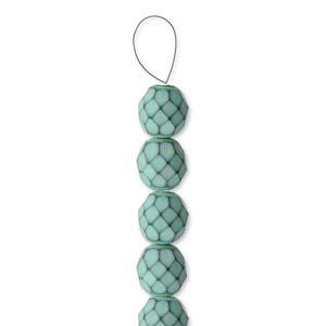 Glasschliffperlen Snake Beads 6mm Hemlock Green 1Strang ca 25 Stück