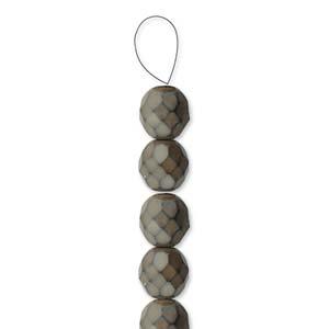 Glasschliffperlen Snake Beads 6mm Mushroom 1Strang ca 25 Stück