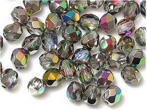 Glasschliffperlen 4mm Crystal VM 100 Stück