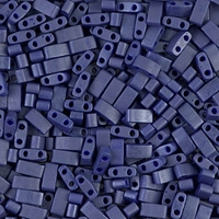 Miyuki Halb Tila Beads 2,2x5mm matt Opak Cobalt Luster HTL2075 ca 7,8gr