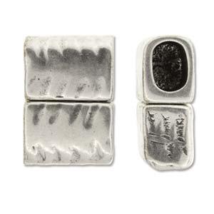 Magnetverschluss parallel 27x20mm für 10x7mm Lederband silberfarben