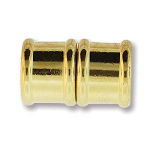 Magnetverschluss Bamboo 18mm Goldfarben 1Stück