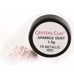 Mica Puder Transparent Metallic Red ca 1,5gr