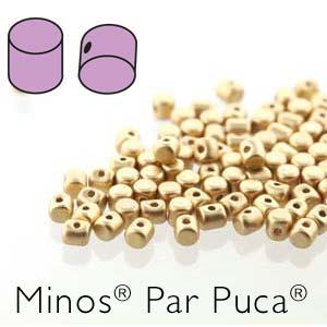 Minos par Puca ® 2,5x3mm 00030-01710 Light Gold matt ca 10 gr