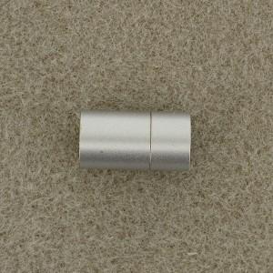 Magnetverschluß Steckverschluß 6mm zum Einkleben silberfarben matt