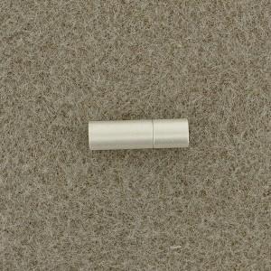 Magnetverschluß Steckverschluß 4mm zum Einkleben silberfarben matt