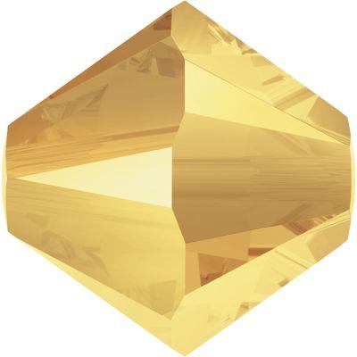 Swarovski Elements Perlen Bicones 4mm Metallic Sunshine 2X beschichtet 100 Stück