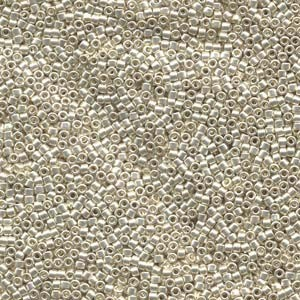 Miyuki Delica Beads  1,6mm DB0035 galvanized Silver 5gr