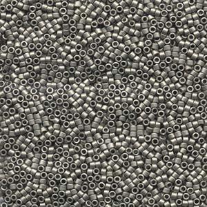Miyuki Delica Beads 1,6mm DB0321 metallic matte Dark Nickel Silver 5gr