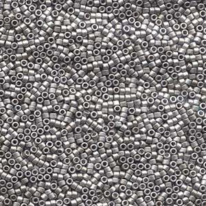 Miyuki Delica Beads 1,6mm DB0336 matt Palladium Plated 5gr