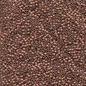 Miyuki Delica Beads 1,6mm DB0340 matt Copper Plated 5gr