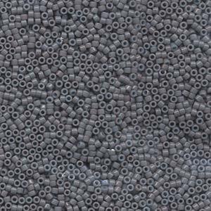 Miyuki Delica Beads 1,6mm DB0652 dyed opaque Grey 5gr