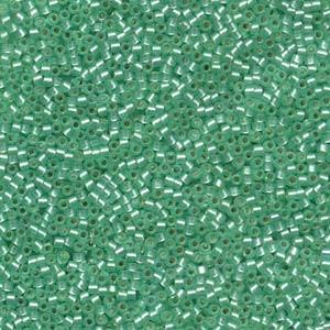 Miyuki Delica Beads 1,6mm DB0691 transparent silverlined semi matt Mint 5gr