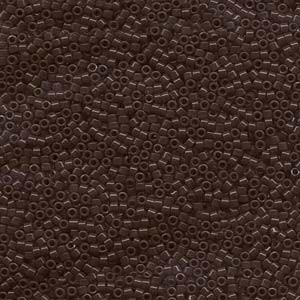 Miyuki Delica Beads 1,6mm DB0734 opaque Chocolate Brown 5gr