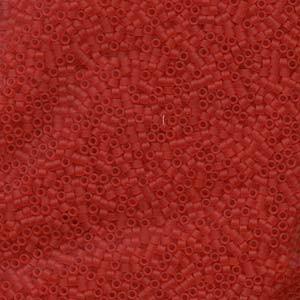 Miyuki Delica Beads 1,6mm DB0745 Transparent matt light Red 5gr