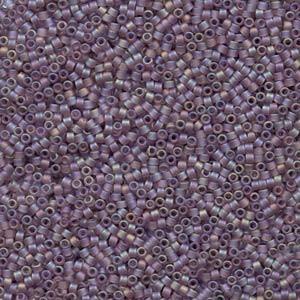 Miyuki Delica Beads 1,6mm DB0857 transparent rainbow matte Dusky Lavender 5gr