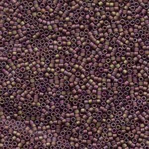 Miyuki Delica Beads 1,6mm DB0867 transparent matt dark Granberry 5gr