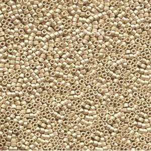 Miyuki Delica Beads 1,6mm DB1153 galvanized semi matte  Honey Gold 5gr