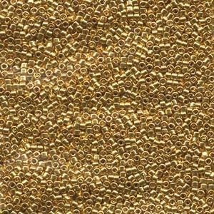 Miyuki Delica Beads 2,2mm DBM0031 metallic 24 Karat Gold plated 7,2 Gr.
