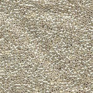 Miyuki Delica Beads 2,2mm DBM0035 metallic galvanized Silver 7,2 Gr.