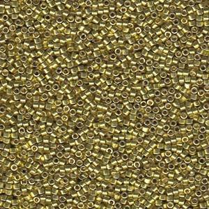 Miyuki Delica Beads 1,6mm DB1835 Duracoat galvanized Zest ca 7,2 Gr.