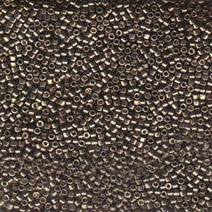 Miyuki Delica Beads 1,6mm DB1852 Duracoat galvanized Pewter ca 7,2 Gr.