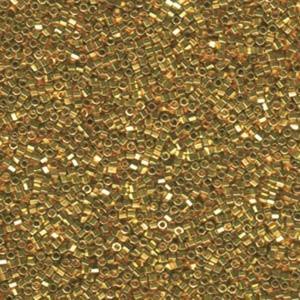 Miyuki Delica Beads 1,6mm Hexcut DBC0031 metallic 24 Karat Gold plated 5gr