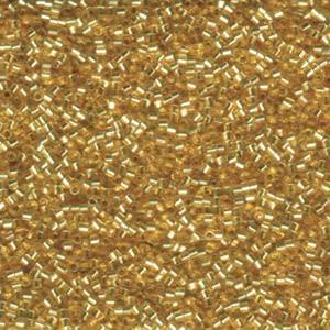 Miyuki Delica Beads 1,6mm Hexcut DBC0042 transparent silverlined Gold 5gr