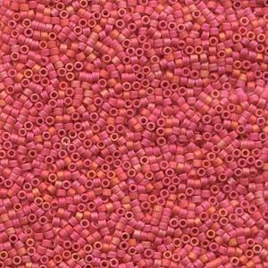 Miyuki Delica Beads 1,6mm DB0873 opaque rainbow matt Strawberry 5gr