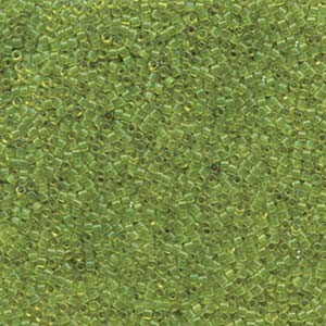 Miyuki Delica Beads 1,6mm DB1107 transparent Olive 5gr