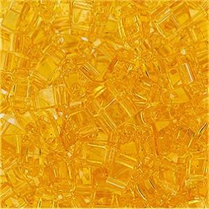 Miyuki Halb Tila Beads 2,2x5mm transparent pale Topaz HTL0132 ca 7,8gr