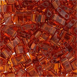 Miyuki Halb Tila Beads 2,2x5mm transparent dark Topaz HTL0134 ca 7,8gr