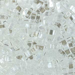 Miyuki Halb Tila Beads 2,2x5mm Luster Crystal HTL0160 ca 7,8gr