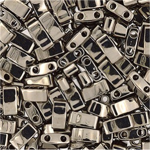 Miyuki Halb Tila Beads 2,2x5mm Plated Nickel HTL0190 ca 7,8gr